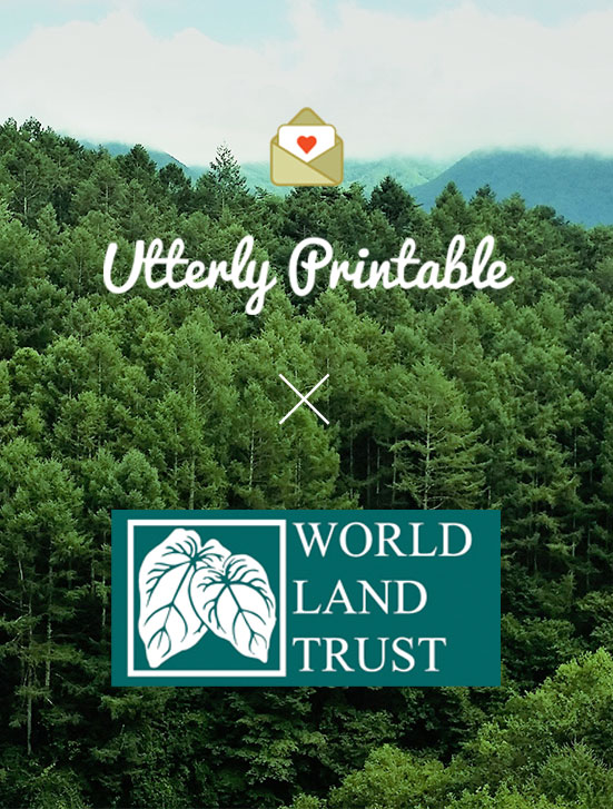 Carbon offset stationery printing with World Land Trust