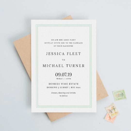 Classic Wedding Invitations – Design & Print Utterly Printable