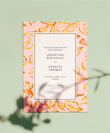 An autumnal wedding save the date named