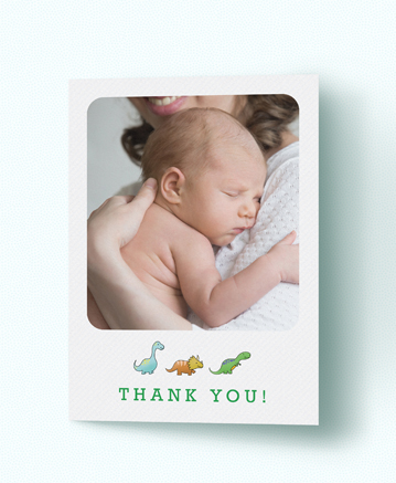 A cool baby thank you card named