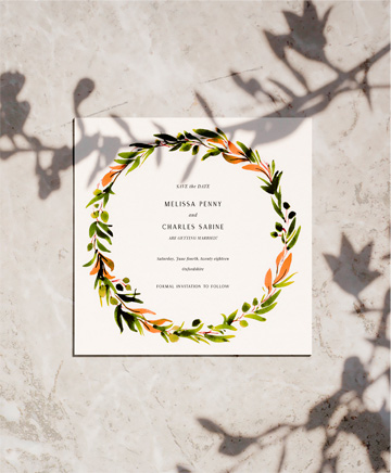 A floral wedding save the date named