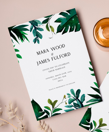 A unique wedding invitation named