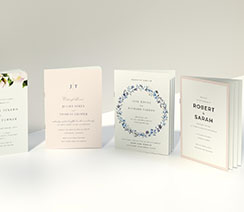 4 A5 wedding ceremony order of service booklets