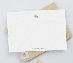 Personalised correspondence note cards for couples