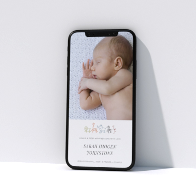 Related Product: Digital Birth Announcements for WhatsApp