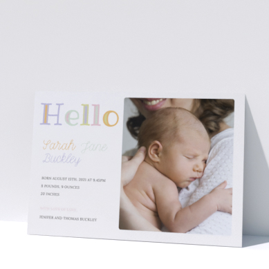 Related Product: Printed Birth Announcements