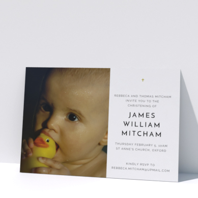 Related Product: Printed Christening Invitations