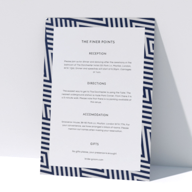 Related Product: Printed Wedding Information Sheets