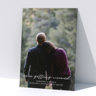 Related Product: Printed Wedding Save the Date